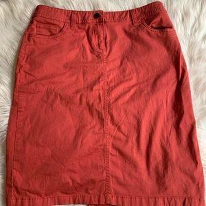 Salmon colored cotton skirt